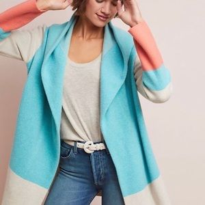 Anthropologie Field Flower Hooded Wool Cardigan